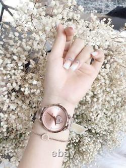 Michael Kors Women's Portia Rose Gold-Tone Stainless Steel Watch MK4468