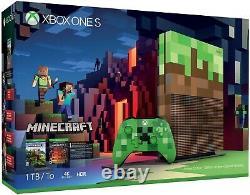 Microsoft Xbox One S Minecraft Limited Edition Bundle 1TB FREE SHIPPING