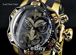 NEW 52MM Invicta Reserve VENOM JOKER DC SWISS Quartz Black & Gold Band Watch