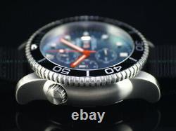 NEW DEEP BLUE 44mm Platinum MOP Dial Master 1000 SAPPHIRE Watch with Extra Strap