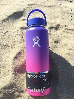 NEW Hydro Flask Ombre Limited Edition Hawaii Moana Blue and Anuenue Purple 40 oz
