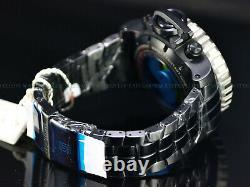 NEW Invicta Full Size 70mm Jason Taylor Sea Hunter Swiss Chrono Black IP Watch