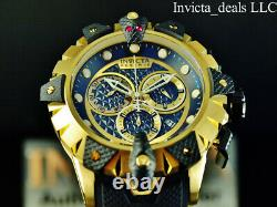 NEW Invicta Men's 52mm VENOM VIPER Swiss Chronograph Black & Gold Tone SS Watch