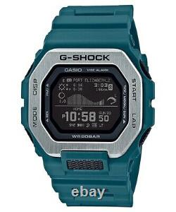 New Casio G-Shock G-Lide Bluetooth Teal Resin Strap Watch GBX100-2