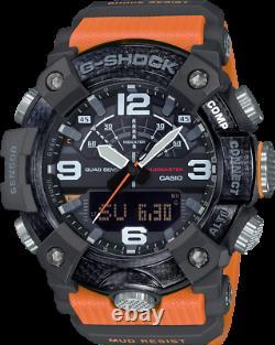 New Casio G-Shock Mudmaster Carbon Core Guard Orange Strap Mens Watch GGB100-1A9