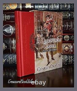 New Christmas Carol by Charles Dickens Deluxe Hardcover Gilt Edge Slipcase Gift