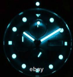 New Deep Blue 40mm Diver 1000 Quartz Chronograph Silver Dial Sapphire Ss Watch