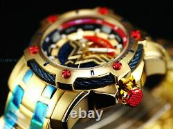 New Invicta DC Comics Wonder Woman Scuba Bolt Hybrid Ltd. Ed. Red/Blue/Gold Watch