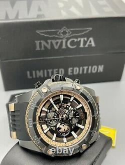 New Invicta Marvel Ironman Limited Men's 52mm Rose Gold Chronograph Watch