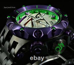 New Invicta Reserve DC Comics 52mm Venom Fusion Joker Ltd Ed Swiss Quartz Watch