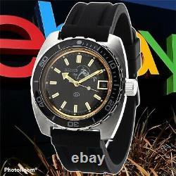 New Mens Automatic Watch Vostok Amphibian 170805 Black Dial Scuba diver 200 m
