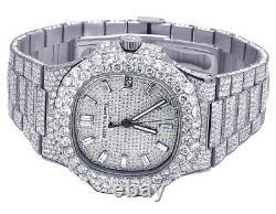 New Mens Patek Philippe Nautilus 5711/1A Steel VVS Diamond Watch 31.55 Ct