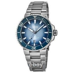 New Oris Aquis Date Lake Baikal Limited Men's Watch 01 733 7730 4175-Set