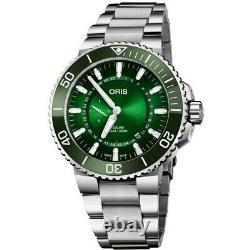 New Oris Aquis Hangang Limited Edition Green Men's Watch 01 743 7734 4187-Set