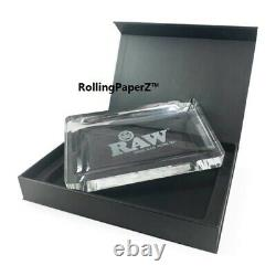 New! RAW Rolling Papers CRYSTAL GLASS ROLLING TRAY 6+ LBS LIMITED EDITION 9X12