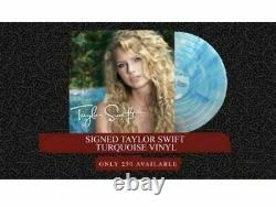 New Taylor Swift Signed LP Turquoise Blue Marble Vinyl Record Store Day RSD Rare