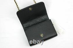 New Tory Burch Carter Black Leather Shrunken Shoulder Crossbody Bag 64187