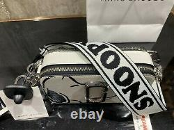PEANUTS x MARC JACOBS Snapshot SNOOPY Cotton Multi Small Camera Bag 100% AUTHENT
