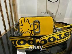 PEANUTS x MARC JACOBS Snapshot Woodstock Yellow Small Camera Bag 100% AUTHENTIC