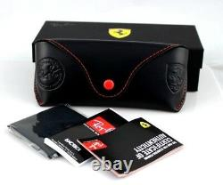 RARE Genuine Scuderia FERRARI RAY-BAN Grey Red Sunglasses RB 4228-M F610/8G 58mm