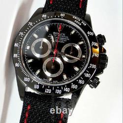 ROLEX Daytona KingsLife Black Limited Edition RED Series 116520 PVD DLC