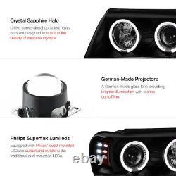 SINISTER BLACK SMOKE 99-04 Grand Cherokee WJ WG LED Halo Projector Headlight