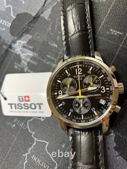 TISSOT T-Sport PRC 200 T17.1.526.52 Leather Wristwatch T461 Chronograph Men's