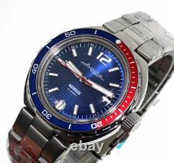Vostok Amphibian Neptune 960759 /2416 Pepsi Military Russian Diver Watch New